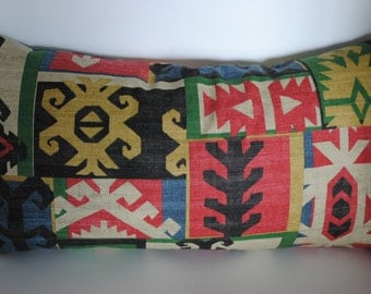 "Tribal lumbar pillow cover southwest pillow 12""x 24"" or 18"" by 18"" or 12"" by 26"""