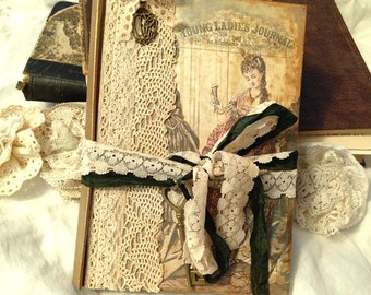 Journal - Young Ladies Journal - Victorian vintage style