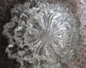 Cut Glass Stackable Ashtrays