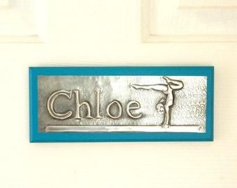 Bedroom Door Sign Gymnasts Personalised Door Plaque