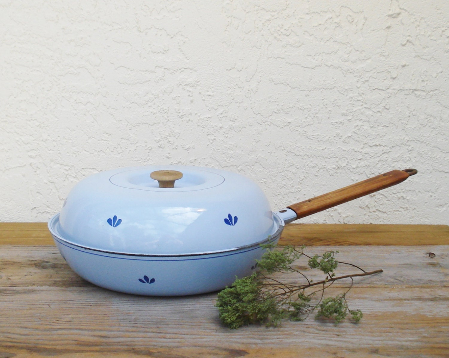 Dru Holland Large Cast Iron Skillet No 30 Frying Pan With Lid