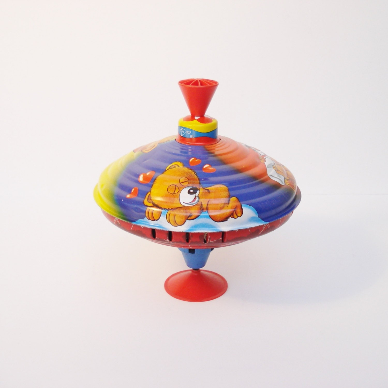 Vintage Metal Spinning Top Spinning Top Toy Spinning Toy