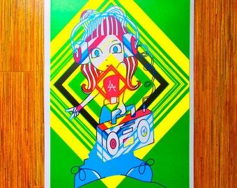 "Jazzy Belle ""12x18"" Hip Hop Poster"