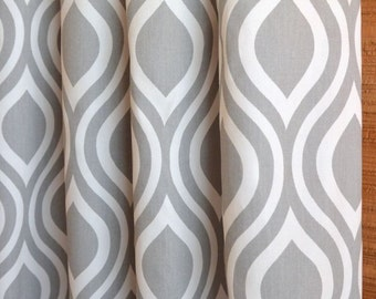 SUMMER SALE! Curtains, Window Treatments, Nursery Baby Room Decor, Curtain Panels,  Nicole Storm Grey White shown