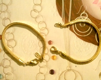 "2 Goldplated 7"" Jaclyn Smith Bracelets"