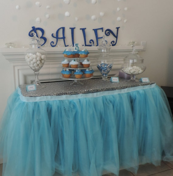 Frozen Themed Elsa And Anna Tutu Table Skirt By Bailey Had A Party Catch My