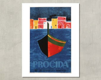 Procida Napoli Italian Travel Poster - 8.5x11 Poster Print - also available in 13x19 - see listing details