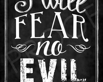 Scripture Art - Psalm 23:4 Chalkboard Style
