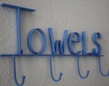 PICK YOUR COLOR Shabby Chic/ Paris Apartment/ Cottage Chic Towel Hook