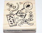Inkadinkado Halloween Candy Stamp - Spooky Spider Pop, Eyeball, Bat Boo, Bugs