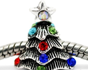 Christmas Tree European Bead For All European Charm Bracelets - Great Seasonal Gift For Winter Holiday 2014