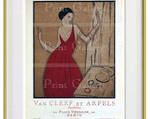 French Print Ads Art Deco Fashion Jewelry Advertisement Paris Vintage Art Prints 1920s 20s Twenties Wall Art Decor Retro Repros da 471