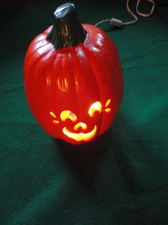 Vintage Ceramic Jack O Lantern Light Up Pumpkin For Your