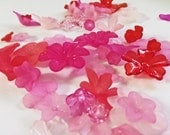 Blushing Petals Lucite Flower Bead Mix - 100 pieces