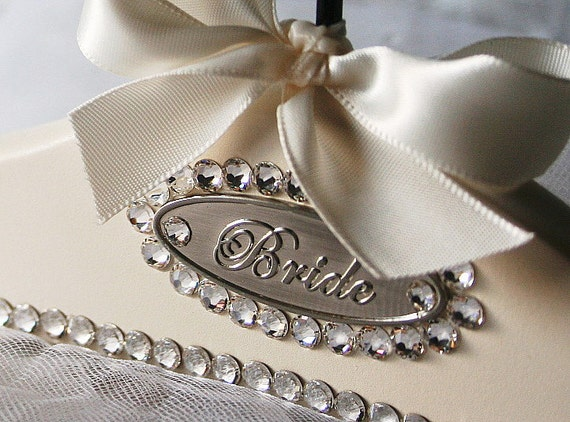 collections wedding dress hangers with name date
