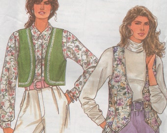 hella fly vests - simplicty 7985 - sewing pattern vintage 1992 - all sizes included - misses