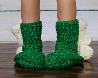 Dinosaur Crochet Slipper Boots (children)
