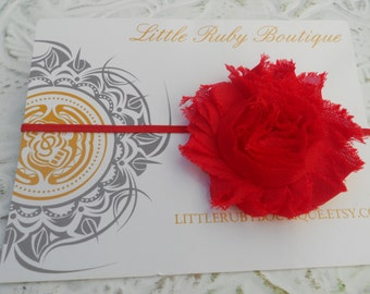 60% off entire purchase..Red Shabby Headband