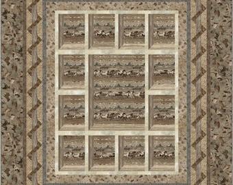 "Instant download Quilt Pattern using Stonehenge Canyon Ridge ""Attic Window Twist"""