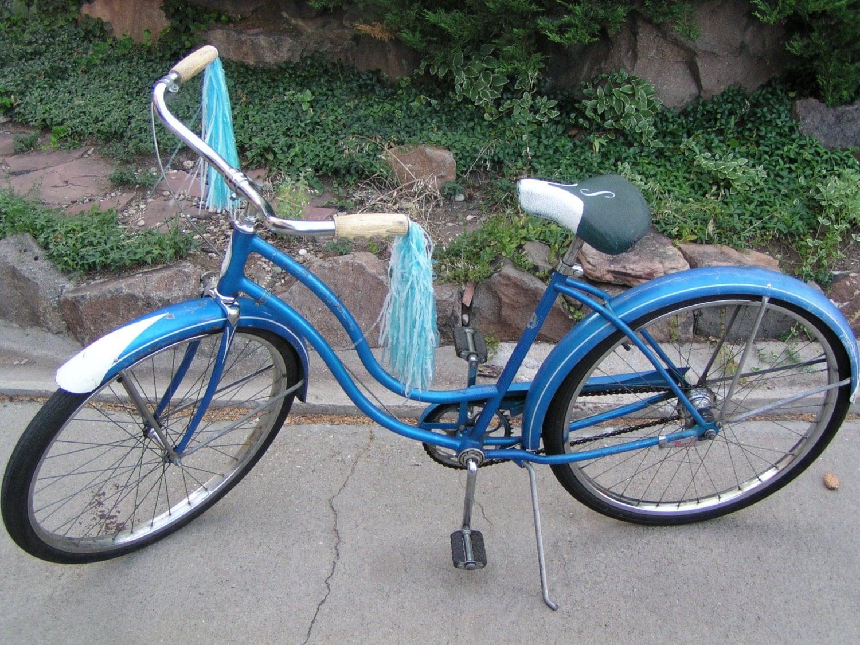 Girls Schwinn Collectible Bicycles : Rare schwinn catalina bike cruiser electric blue