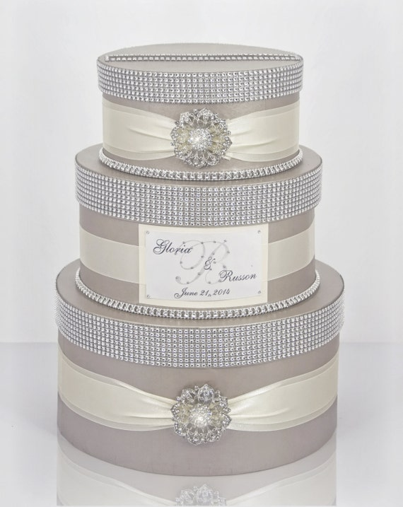 Card Box Wedding Box Wedding Money Box 3 Tier Round Box