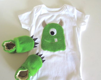 Baby Shower Gift Set Monster Baby in Green ON SALE