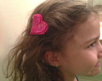 Summer fun hair clips, felt & glitter