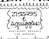 13 hand drawn photoshop brushes for borders