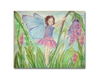 Fairy Wall Art, Print 8x10, Flower Fairy, Girls room Decor, Kids Wall Art, Baby Girl Nursery, Kids  Decor,  Fairy Nursery Decor, Wall Art