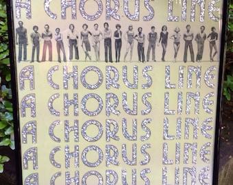 Glittered A Chorus Line Soundtrack Vinyl Record Album
