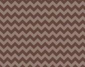 Small Tone on Tone Brown Chevron: Riley Blake Designs - 1/2 Yard Cut