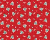 Country Floral in Red: Tasha Noel 1 Yard Cut