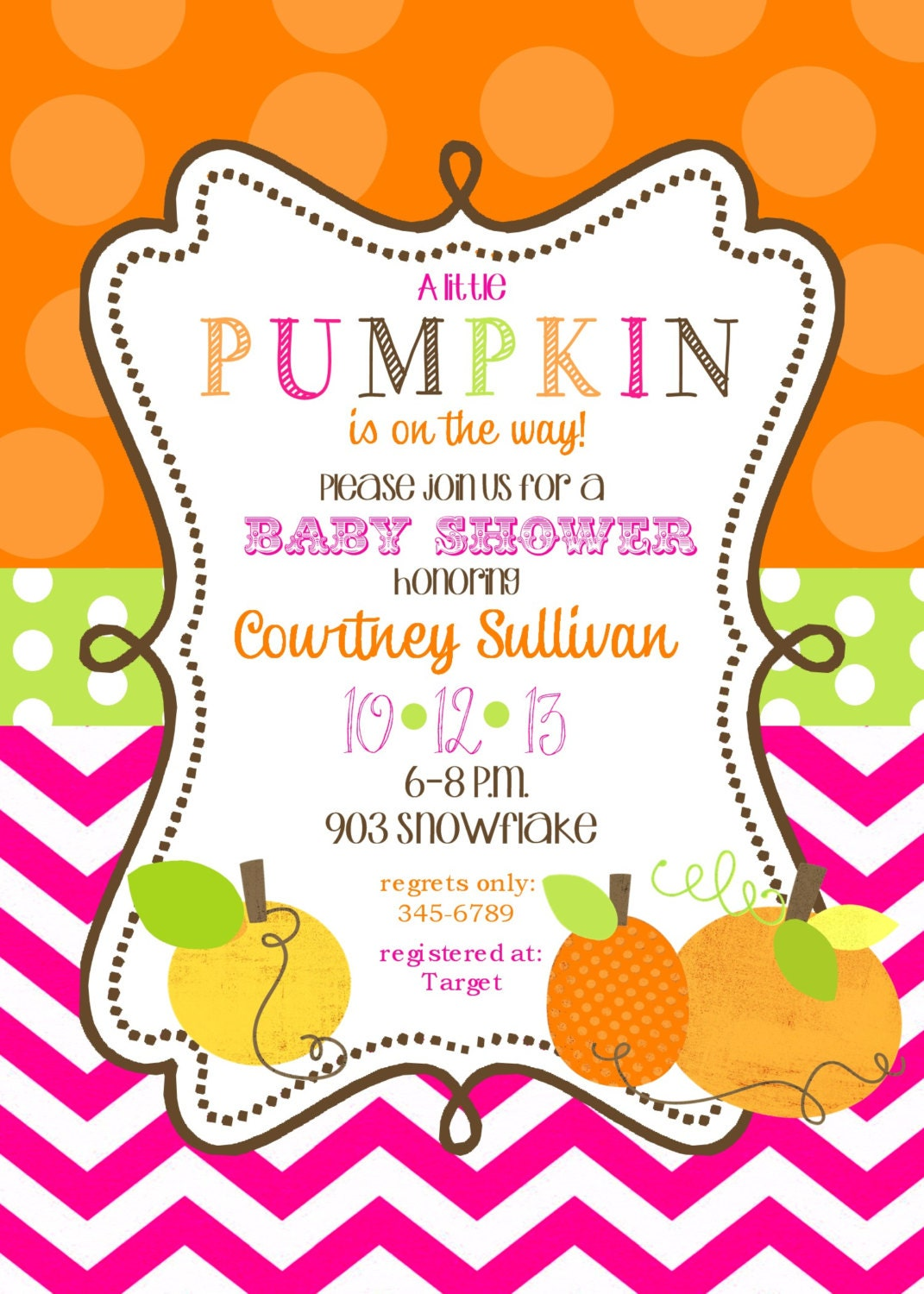 12 pumpkin baby shower invitations with by noteablechic on