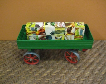 vintage Mamod steam roller open wagon / England - trailer - 1980s - toy - industrial - collectible - home decor