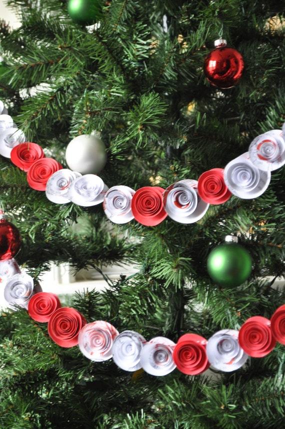 Christmas  Garland- Paper Flower Garland- Grinch Garland
