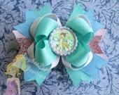 Bambi hair bow disney bottle cap over the top boutique hair clip cute summer fun pink powder blue girls bow Christmas gift