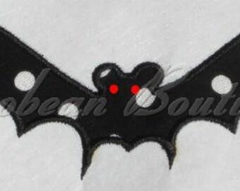 embroidery applique Bat 2