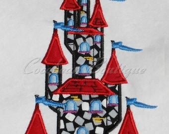 embroidery applique Castle
