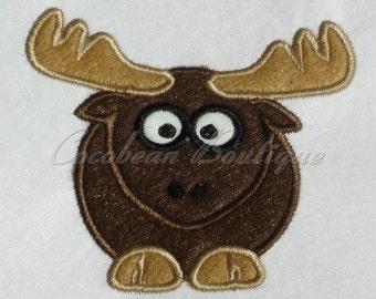 embroidery applique Moose