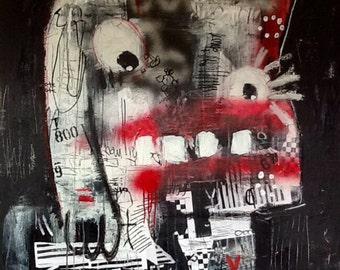 "36""x36"" Abstract Mixed Media Painting"