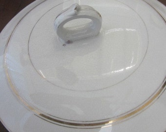 Antique Slop Pot Lid With Gold Rings