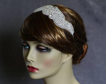 Rhinestone Headband-Bridal Headband-Beaded Rhinestone-Wedding Hair-Bridal Headpiece-Bridal Hair Accessories-Ready To Ship