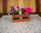 Wedding Center Piece, Table Centerpiece, Decortive Crate Center Piece, Wood Centerpiece, Center Piece, Wood Storage Box, Rustic Center Piece