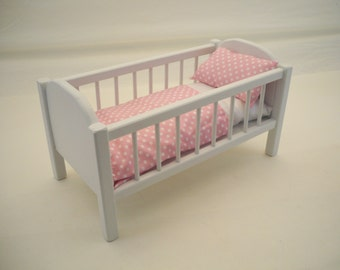 Doll Criib, Wood Doll Crib,19inch Doll Crib, Doll Bed, American Doll Crib, Girls Toy, Doll Wood Furniture