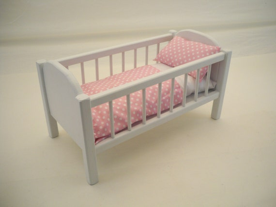 Wood doll bedbaby doll crib 18 inch doll crib doll Wooden baby doll furniture