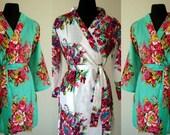 set of 5 Bridesmaid Robes  , wedding favors, Kimono Robe, Perfect bridesmaids Gift, Bath Robes, Getting ready robe