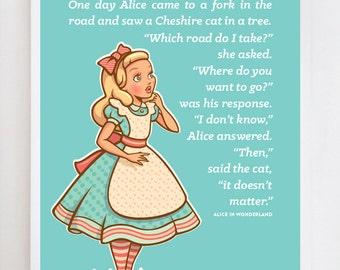 Alice In Wonderland Wall Art Print