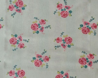 One Yard - Vintage Roses on Beige Background Fabric