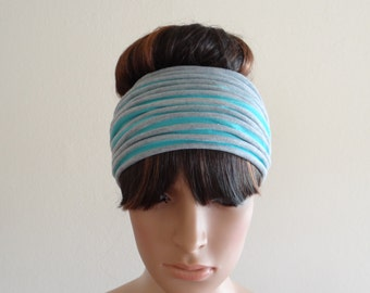 Striped Headband.Head Wrap