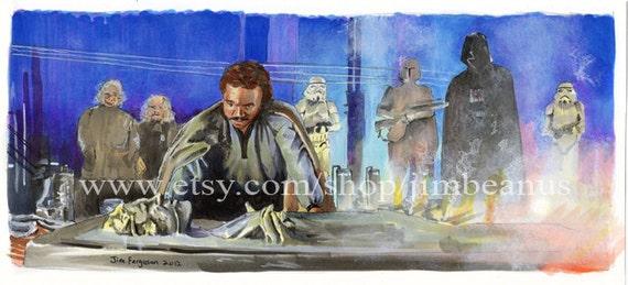 Star Wars Empire Strikes Back - Perfect Hibernation Poster Print